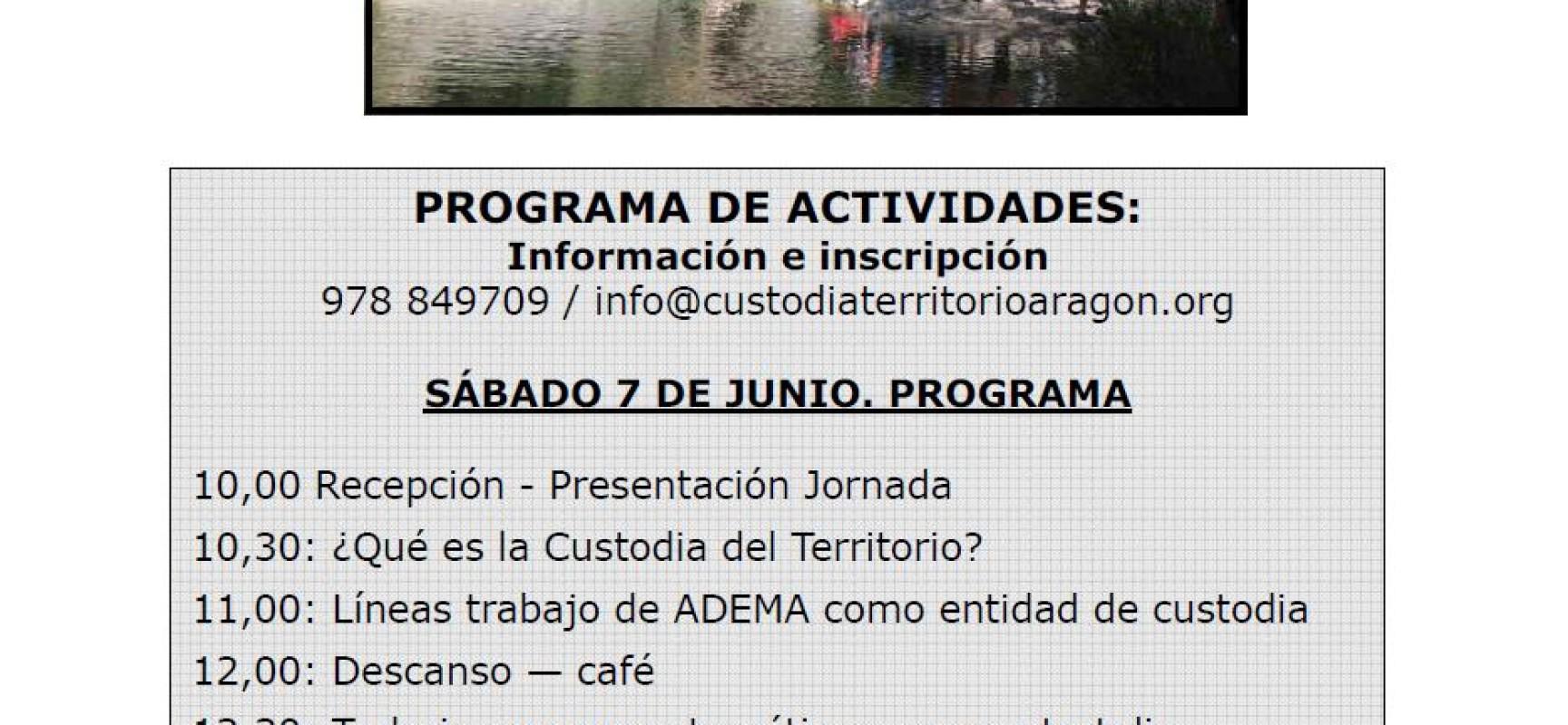 Jornada «Oportunidades de la Custodia del Territorio en el Maestrazgo». Finca EANA Castellote, sábado 7 de junio.