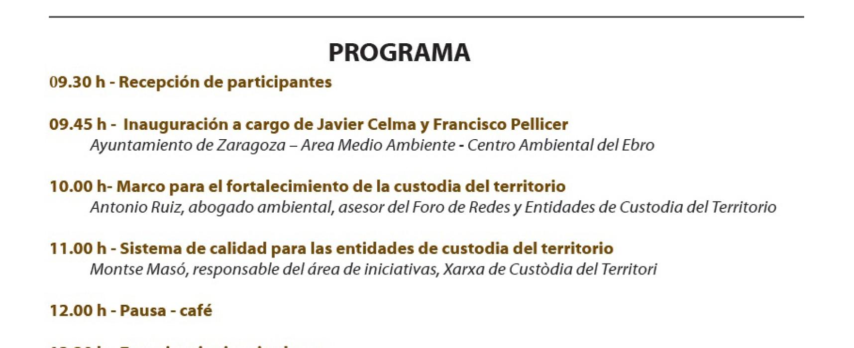 Jornadas capacitación custodia del territorio. Tejiendo Redes (Zaragoza, 18 de febrero)