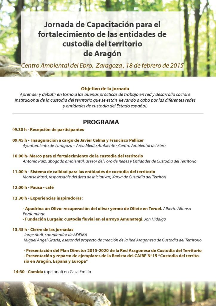 programa jornadas zaragoza 18 febrero 2015