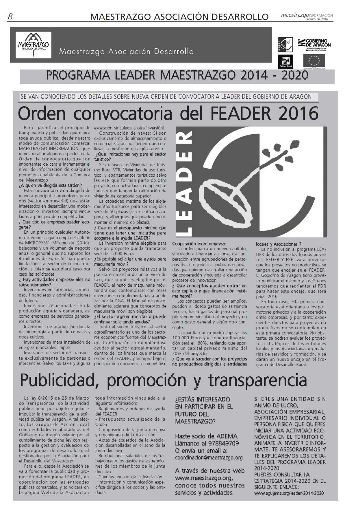 informacion leader febrero2016